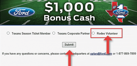 Step 2 How to Redeem $1000 Houston Livestock Show and Rodeo Volunteer Incentive