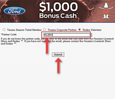Step 3 How to Redeem $1000 Houston Livestock Show and Rodeo Volunteer Incentive