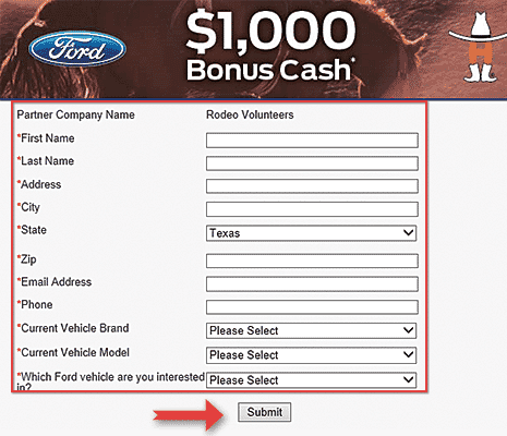 Step 4 How to Redeem $1000 Houston Livestock Show and Rodeo Volunteer Incentive